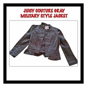 Juicy Couture Gray Military Style Jacket